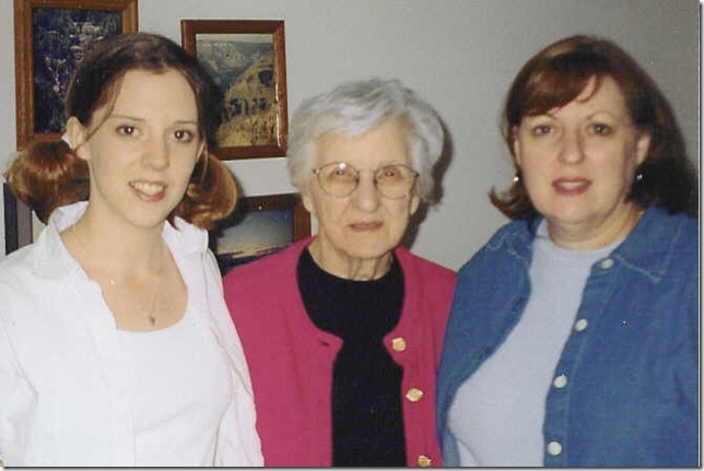 three generations women
